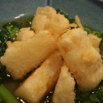 長いもの天ぷら菜の花あん
